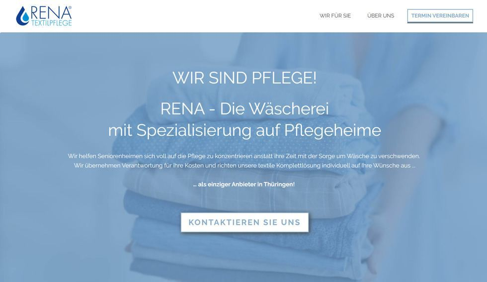 2019: Neue Website www.rena-textilpflege.de